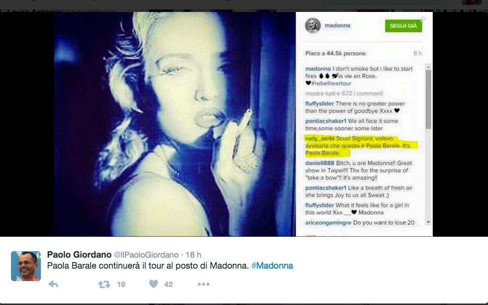 Madonna/Paola Barale
