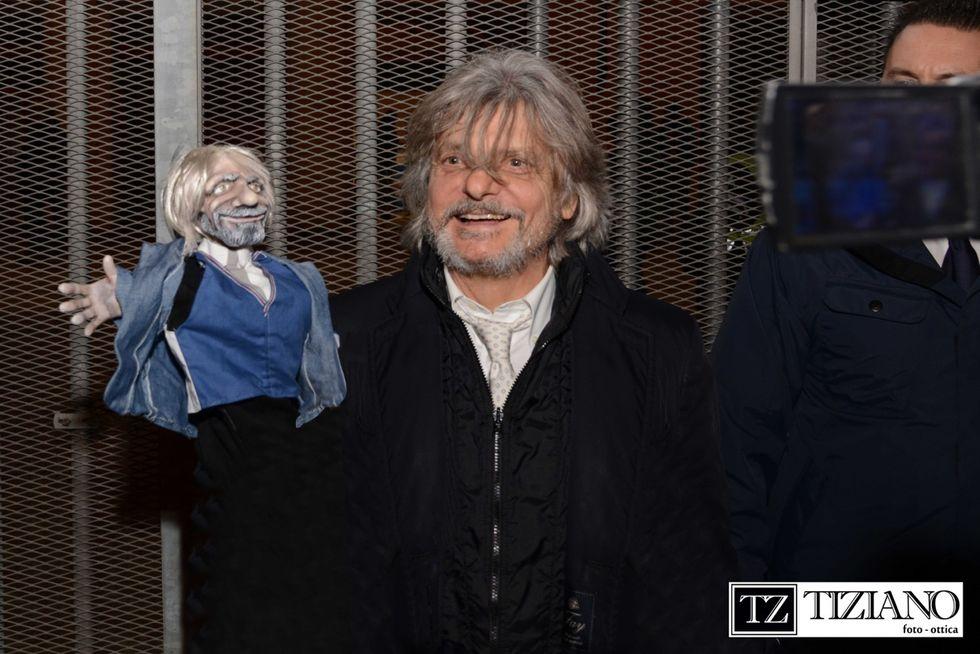 Massimo Ferrero diventa una marionetta