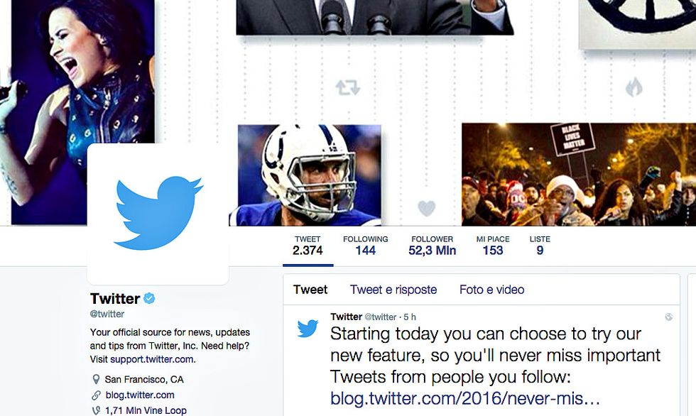 A Twitter non può bastare la timeline scelta dall'algoritmo