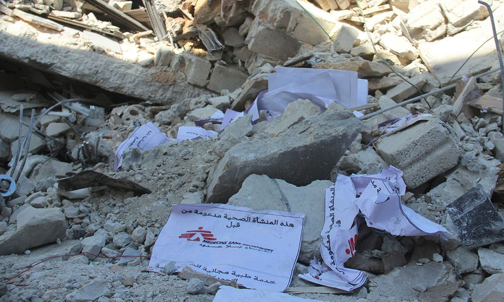 Siria, raid aereo russo su ospedale MSF