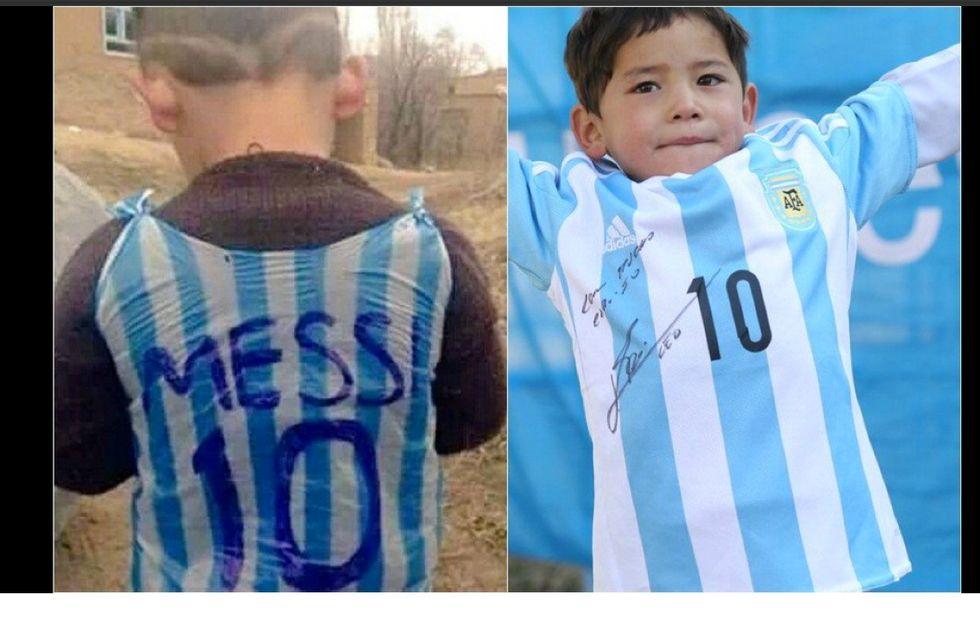 Il piccolo Murtaza realizza il suo sogno: adesso ha la (vera) maglia di Messi