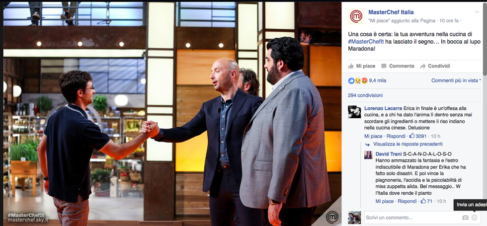 L'uscita di Maradona da MasterChef