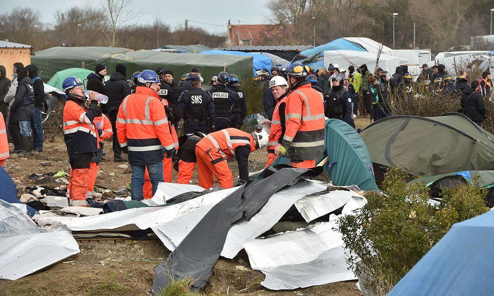 Sgombero a Calais, Francia
