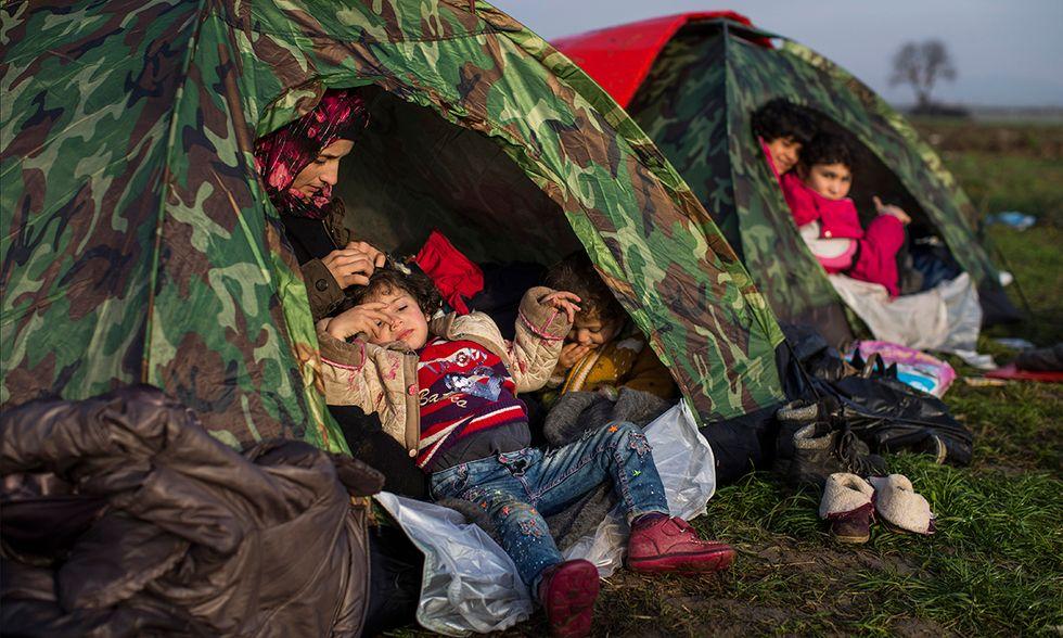 Idomeni campo migranti tra Grecia e Macedonia