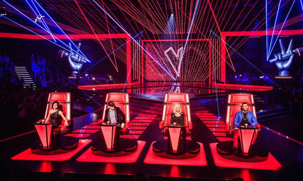 I giudici di The Voice: Dolcenera, Raffaella Carrà, Max Pezzali, Emis Killa