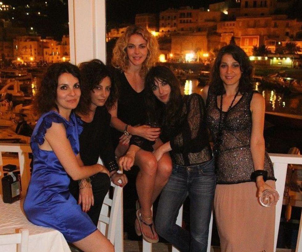 A Ponza con Claudia Gerini e le sue amiche