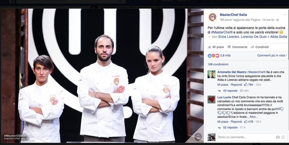 Erica, Lorenzo e Alida, i tre finalisti