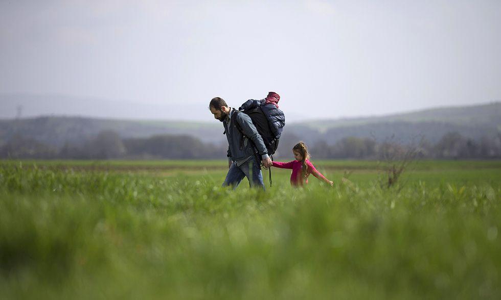 Migranti al confine tra Grecia e Macedonia