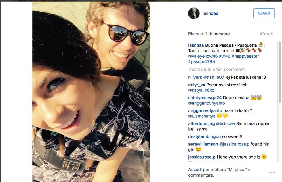 Linda Morselli e Valentino Rossi