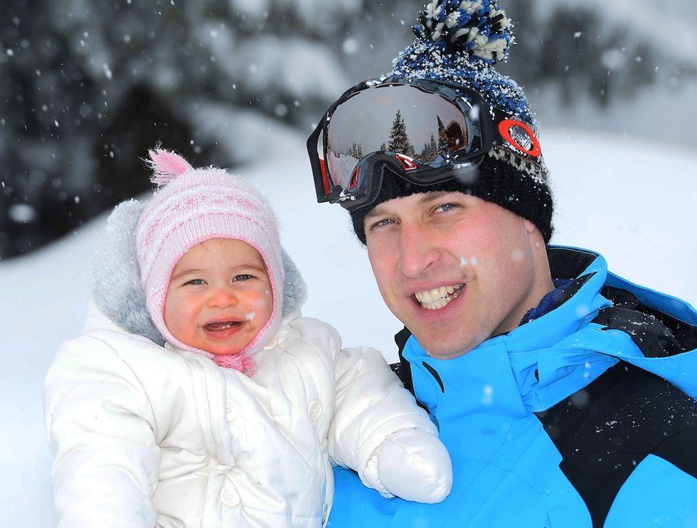 Il Principe William con la piccola Charlotte