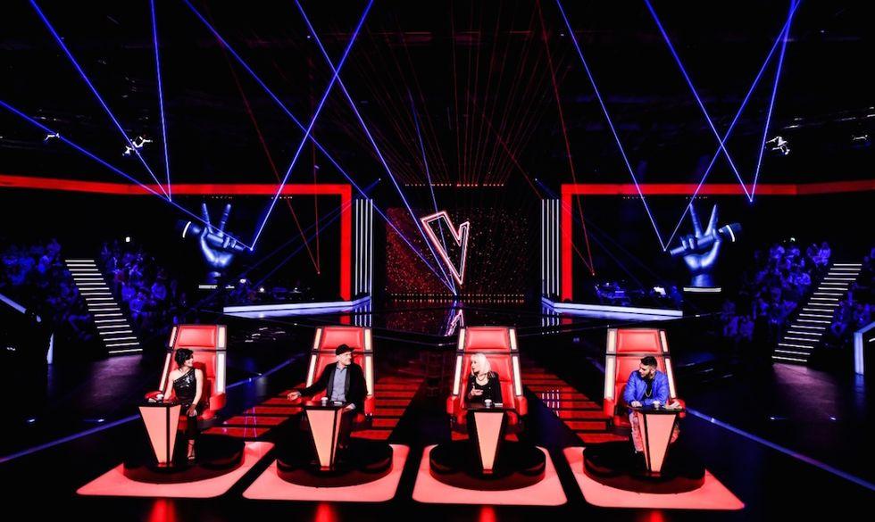 I giudici di The Voice 4 Dolcenera, Max Pezzali, Raffaella Carrà ed Emis Killa