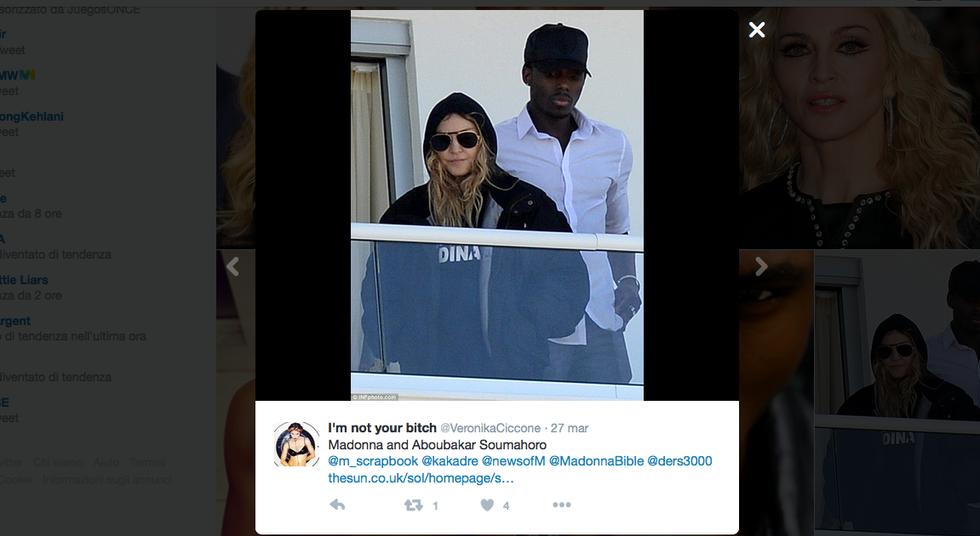 Madonna e Aboubakar Soumahoro