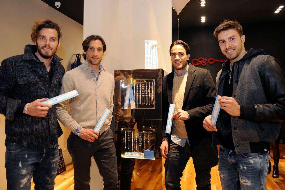 FedericoMarchetti,StefanoMauri,AlessandroMatri,GuidoGuerrieri@CrucianiCBoutiqueRoma23Marzo2016