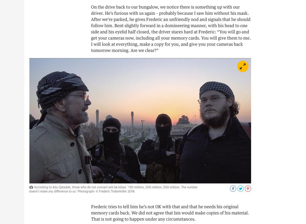I territori dell'Isis raccontati da un giornalista occidentale