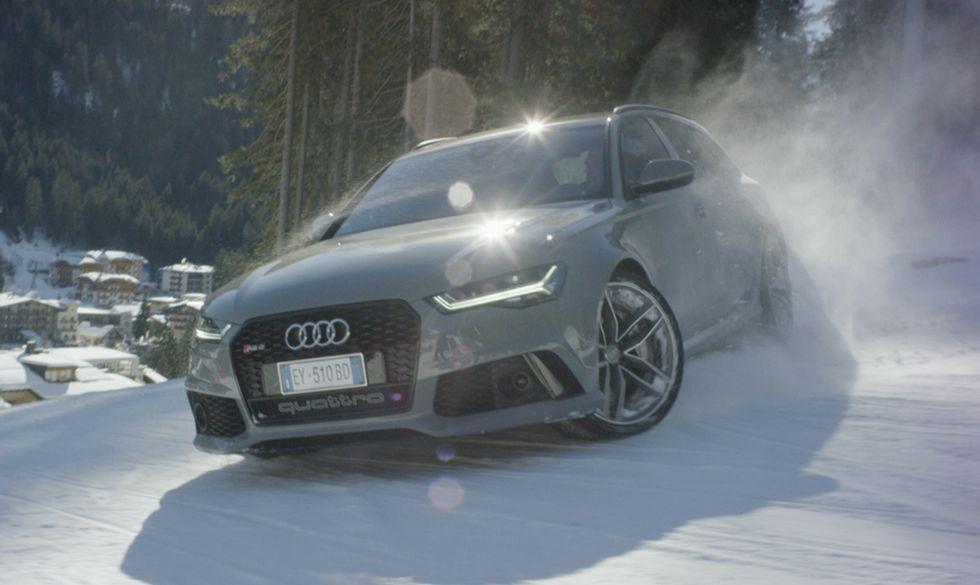 Audi RS 6 e due campioni dello sci sulle nevi di Madonna di Campiglio