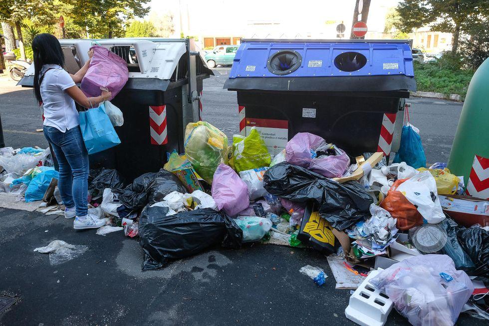 Roma degrado spazzatura