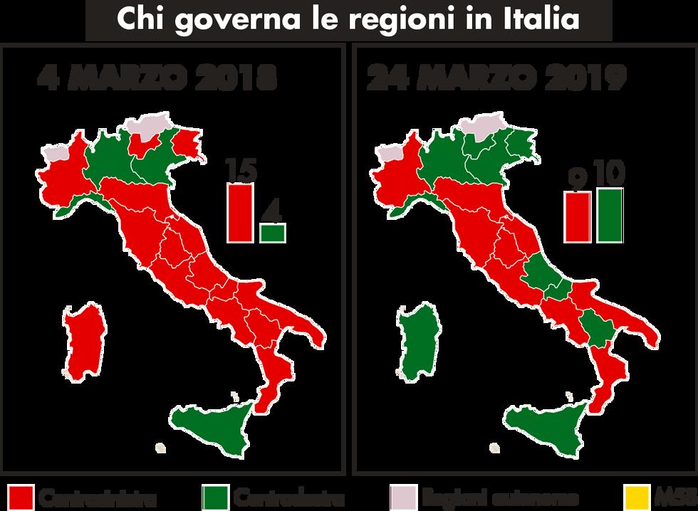 italia Regioni partiti