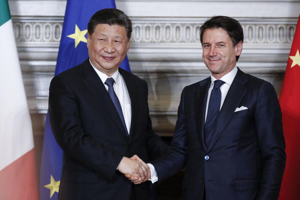 Xi Jinping Roma Giuseppe Conte Via della Seta
