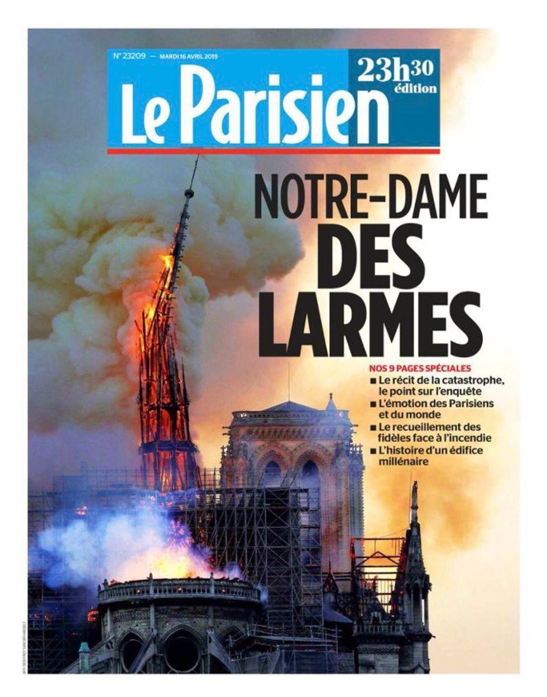 incendio notre dame parigi notizia mondo prime pagine giornali