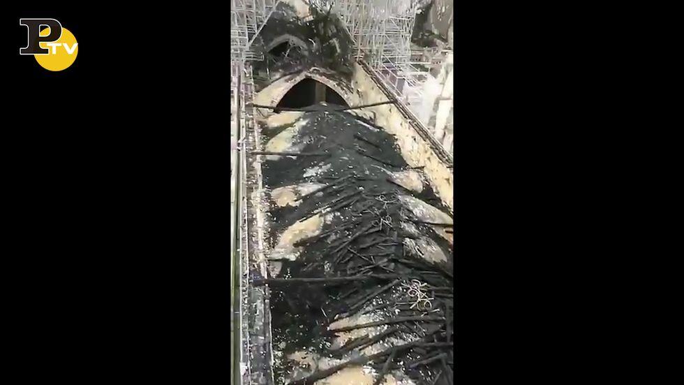 Parigi, cosa resta della cattedrale di Notre Dame