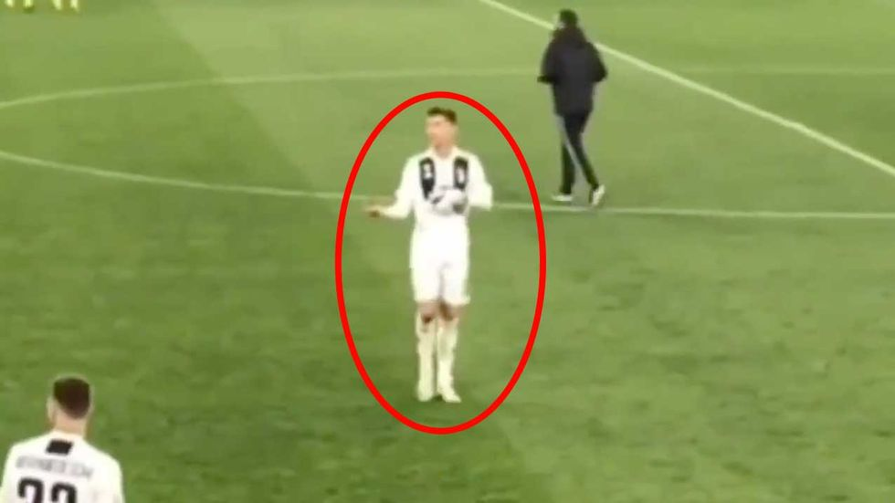 Cristiano-Ronaldo-gesto-paura-Juventus-Ajax
