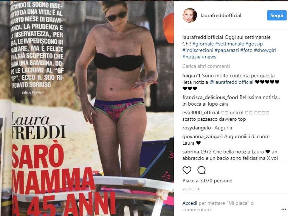 Laura Freddi sarà mamma a 45 anni