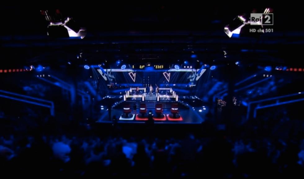 Lo studio di The Voice of Italy