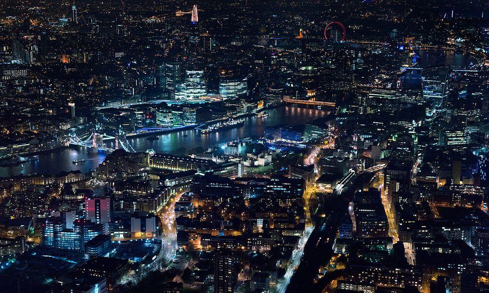 Luci di Londra, Foto aeree