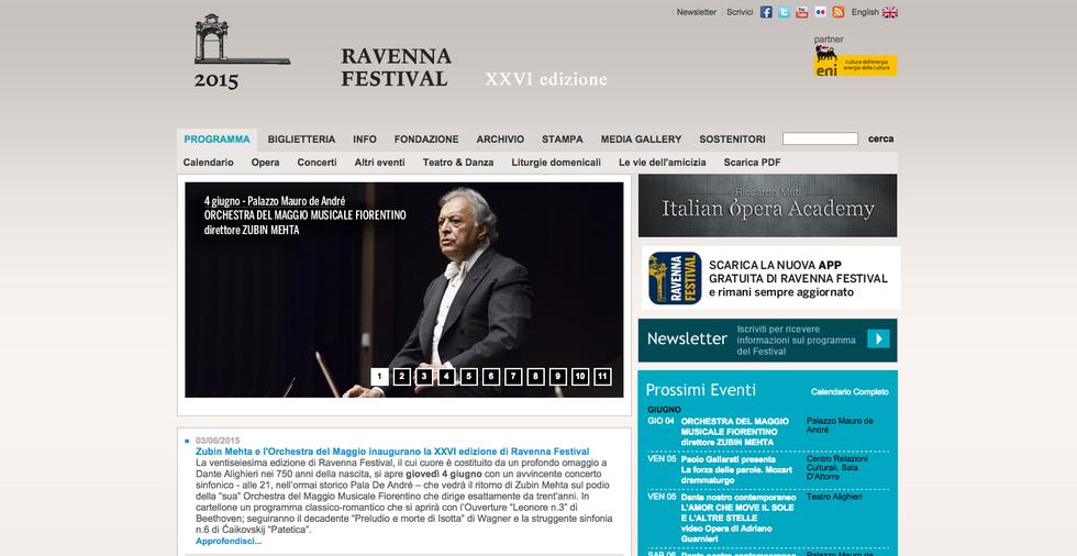 Ravenna Festival 2015: tutti gli eventi
