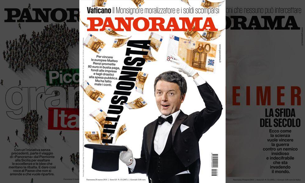 Renzi, l'illusionista. Il nuovo numero di Panorama in edicola
