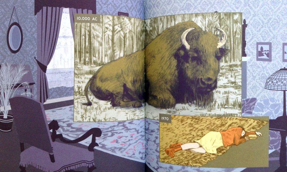 'Qui': il tempo e lo spazio in un virtuosismo a fumetti