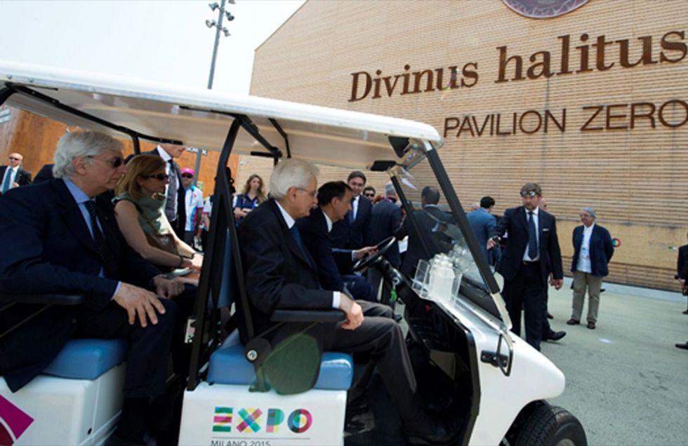 Mattarella visita Expo e firma la Carta di Milano - Foto