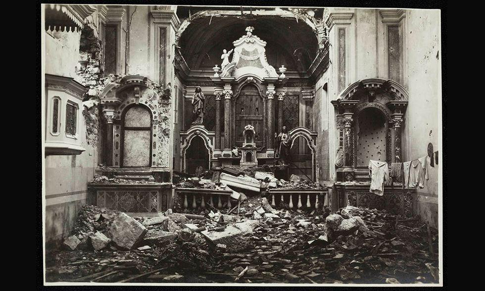 La Grande Guerra e i monumenti, foto in mostra a Venezia