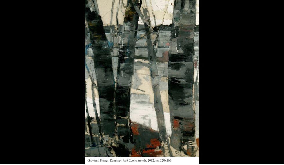 """Dauntsey Park 2"", di Giovanni Frangi, olio su tela del 2012."