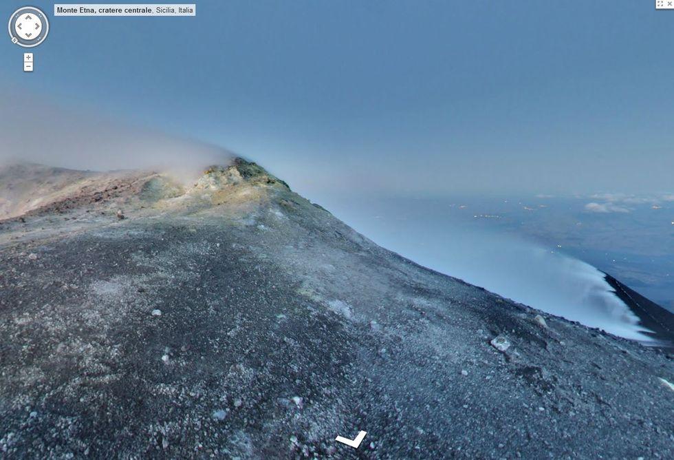 Google Street View sale sull'Etna