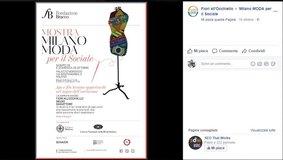 Milano Moda per il sociale
