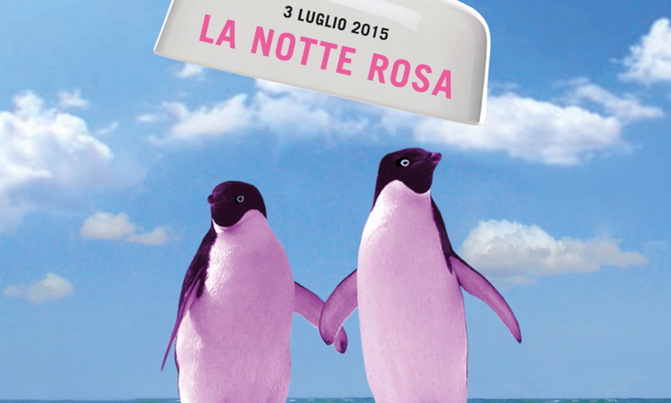 Notte Rosa 2015: la locandina dell'evento romagnolo e marchigiano
