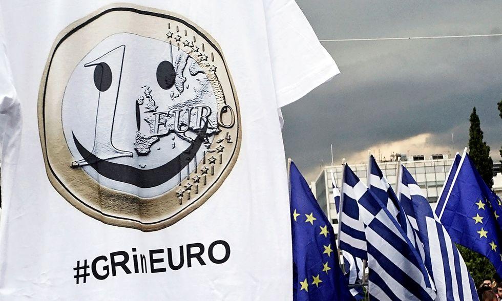 Atene, in piazza per il sì al referendum
