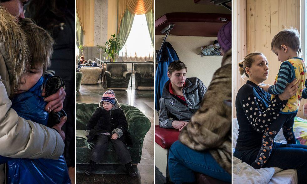 """Ucraina, """"senza città"""" in fuga dalla guerra"""