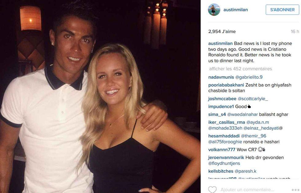 Cristiano Ronaldo trova un cellulare e invita a cena la proprietaria