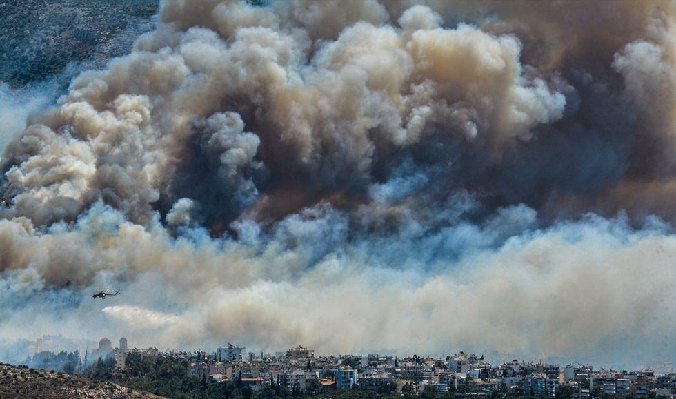 Atene-incendio