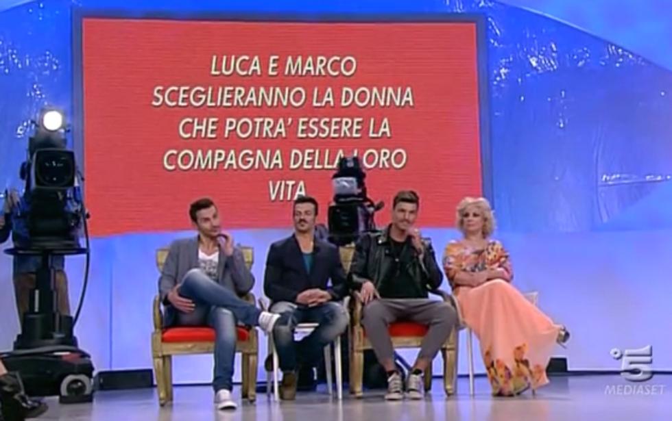 Uomini e Donne 2014: Luca bacia Eleonora, Marco elimina Noemi