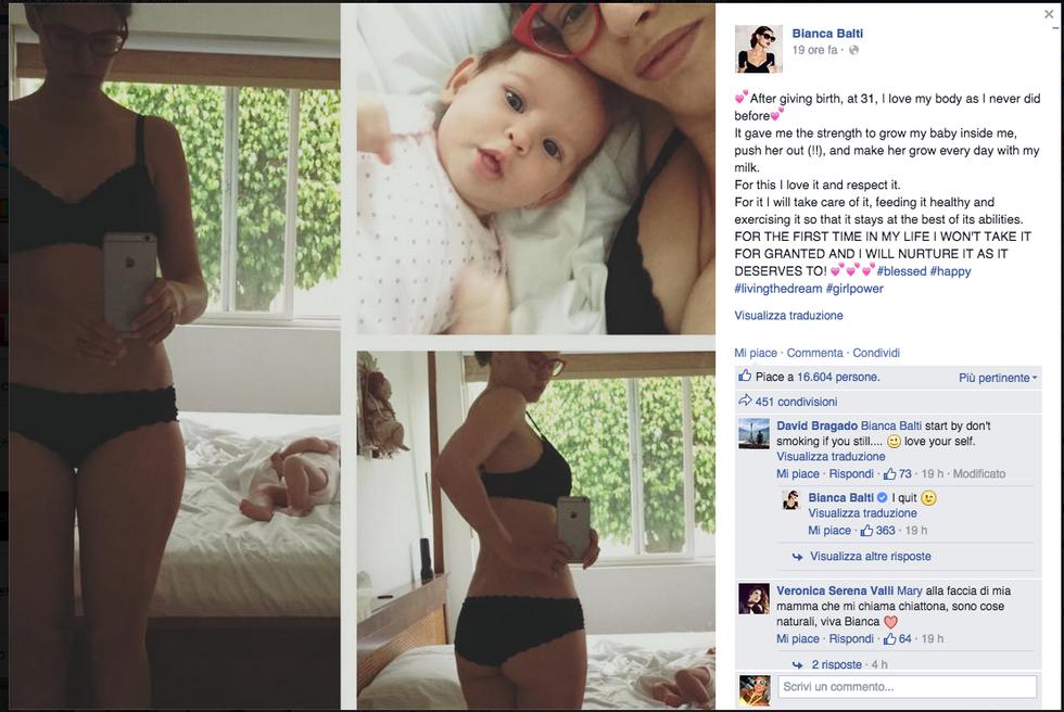 """Bianca Balti: """"Sono fiera del mio corpo"""""""