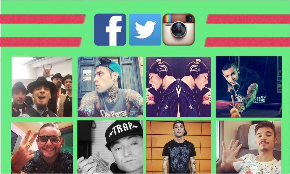 I rapper italiani più amati nei social network (2015)