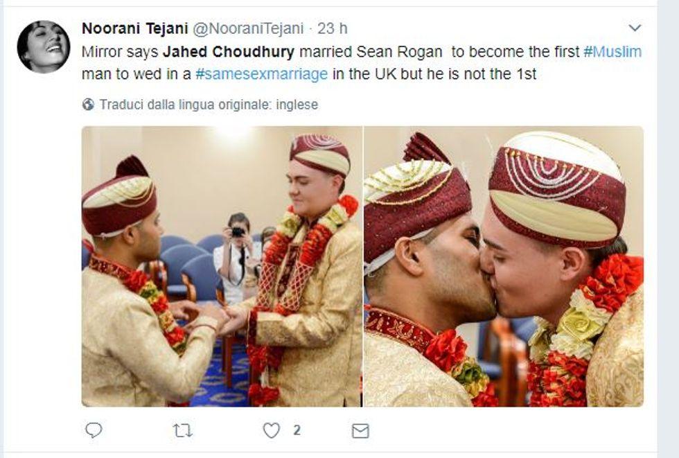 Jahed Choudhury e Sean Rogan, i primi sposi gay islamici