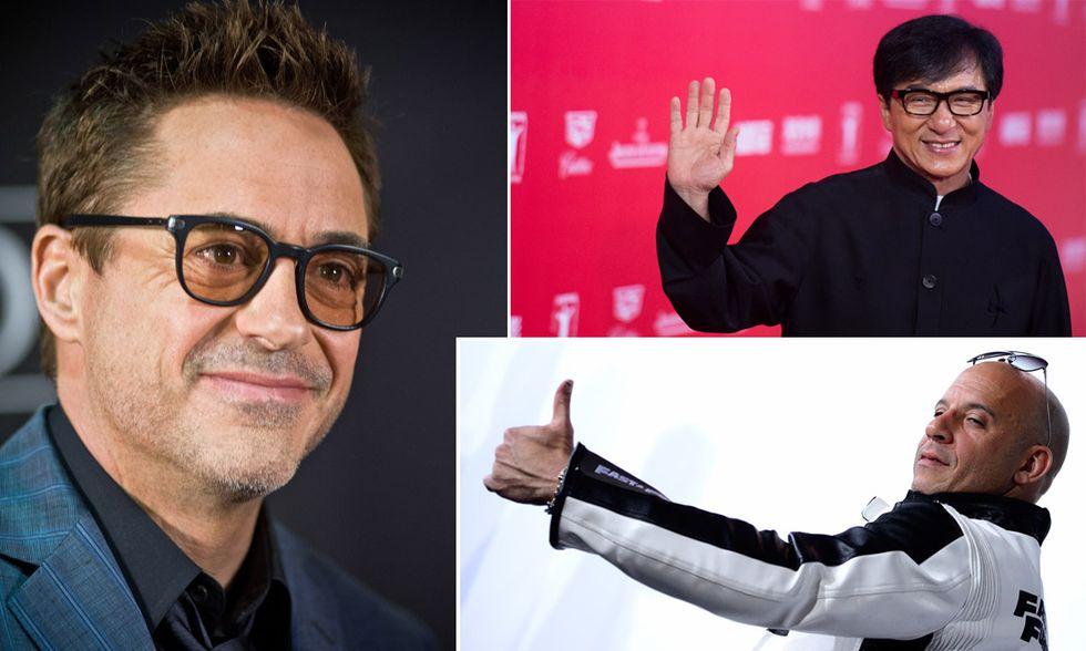 Robert Downey Jr., Jackie Chan e Vin Diesel
