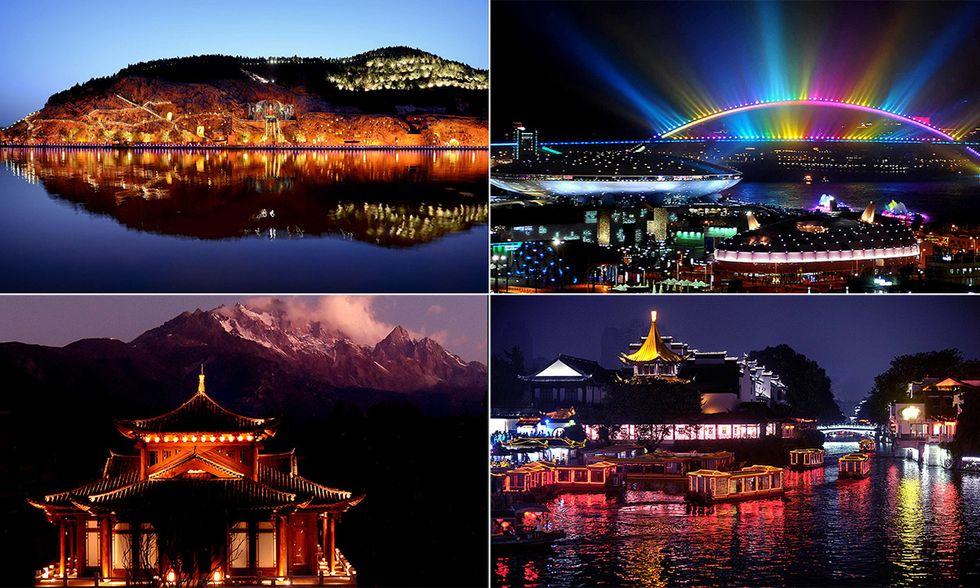 La Cina di notte