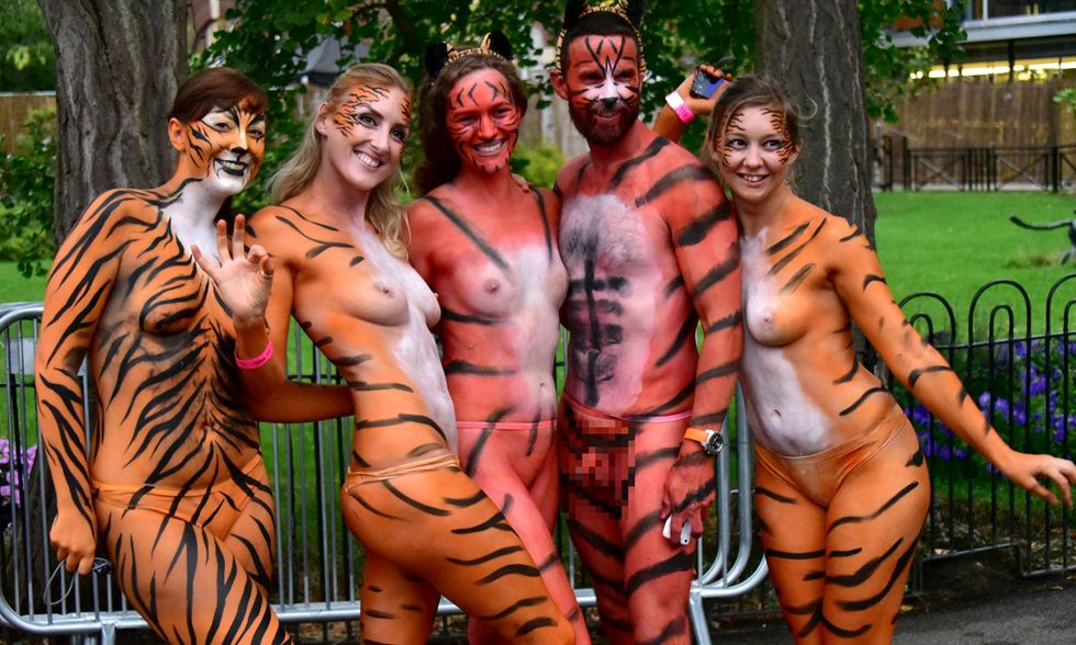 Corsa nuda per le tigri, Londra