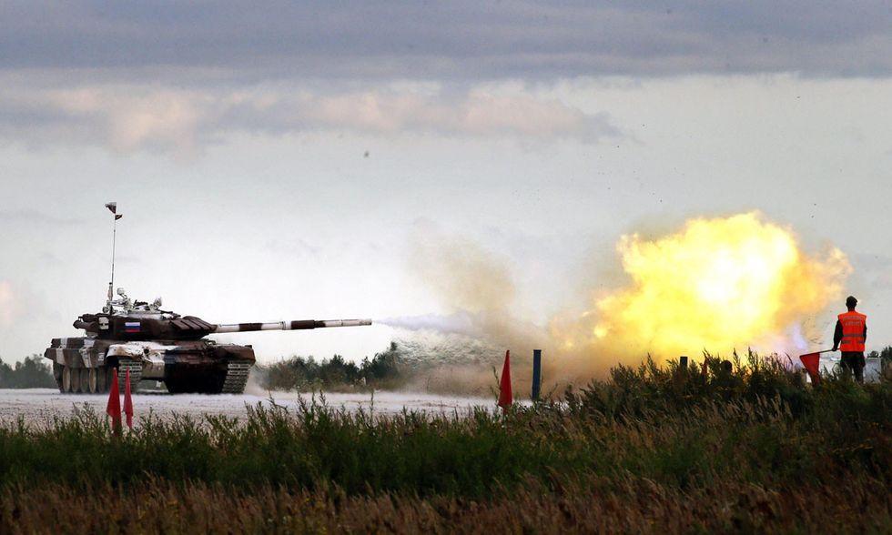 Biathlon dei carri armati in Russia