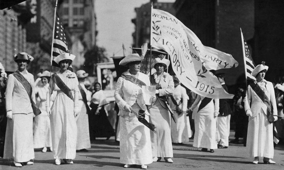 Parata per il suffragio femminile a New York